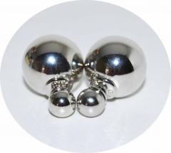 Серьги Mise En Dior зеркальные серебряные