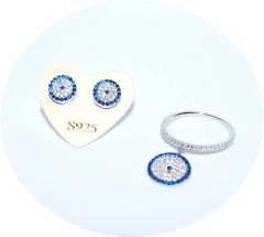Пусеты и кольцо