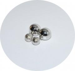 Пусеты шарики Dior зеркальные серебряные