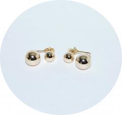 Серьги в стиле Chanel золотые
