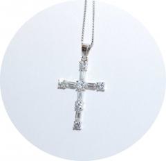 Серебряный кулон Крестик