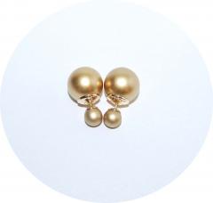 Серьги шарики золотые матовые