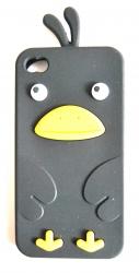 Чехол цыпленок для iPhone 4S черный