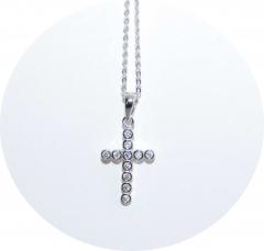 Кулон Крестик в стиле Tiffany