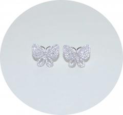 Серебряные серьги Бабочки