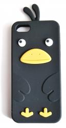 Чехол цыпленок для iPhone 5S черный