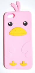 Чехол цыпленок для iPhone 5S розовый