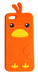 Чехол цыпленок для iPhone 5S оранжевый