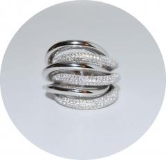 Кольцо De Grisogono серебро 925