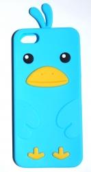 Чехол цыпленок для iPhone 5S голубой