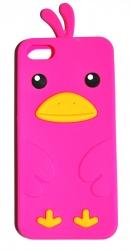 Чехол цыпленок для iPhone 5S малиновый