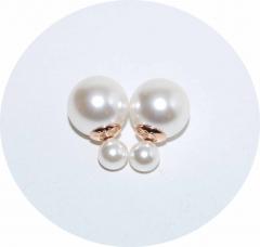 Серьги Dior жемчужные 925