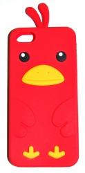 Чехол цыпленок для iPhone 5S красный