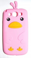 Чехол цыпленок для Samsung Galaxy S3 розовый
