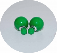 Серьги Dior зеленые 925