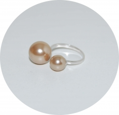Кольцо серебряное Chanel золотистое