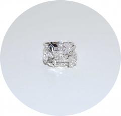 Колечко в стиле Van Cleef серебряное