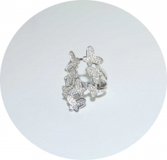 Серебряное колечко Бабочки