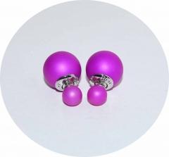 Пусеты Диор фиолетовые матовые