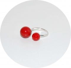 Кольцо серебряное Chanel красное