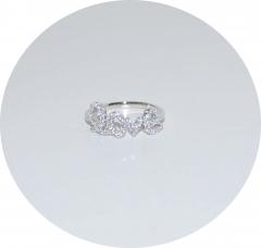 Кольцо серебряное Love