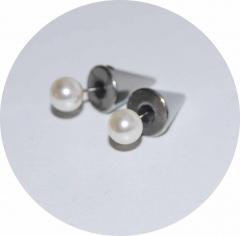 Серьги гвоздики шипы серебряные