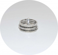 Кольцо серебряное черное с белым