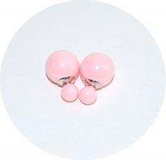 Серьги Dior розовый перламутр 925