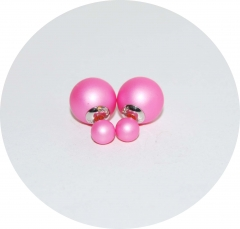 Серьги Dior малиновые матовые 925
