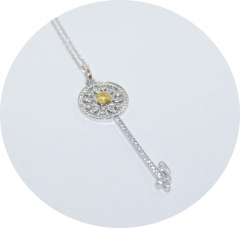 Ключик желтый Tiffany серебряный 925