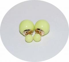Серьги Диор шарики кислотный желтый