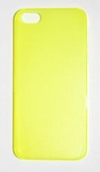 Пластиковая накладка для iPhone 5 желтый