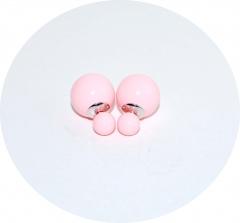 Серьги Dior розовые 925