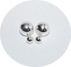 Пусеты Диор из серебра 15мм