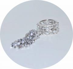 Кольцо в стиле KoJewelry с кисточкой