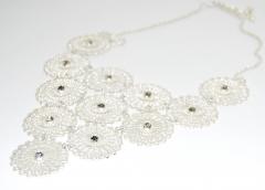 Ожерелье Уголок серебро