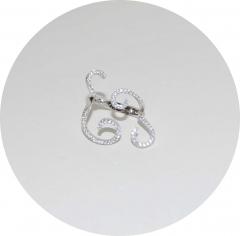 Серебряное кольцо завитки