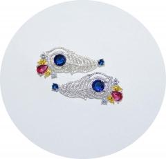 Каффы перья синие