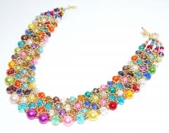 Крупное жемчужное ожерелье цветное