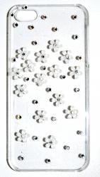 Чехол стразы для iPhone 5 цветочки