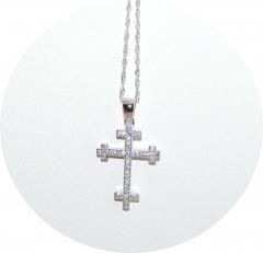 Подвеска Крест серебряный