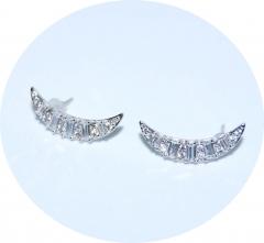 Каффы серебряные с цирконами