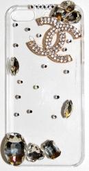 Чехол стразы для iPhone 4S Шанель