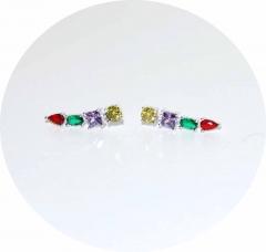 Каффы с цветными камнями