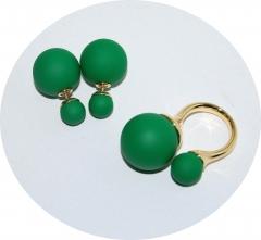 Комплект в стиле Dior зеленый