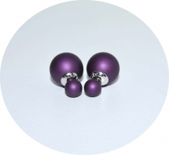 Серьги Dior фиолетовые матовые 925