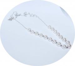 Серебряная цепочка с жемчугом