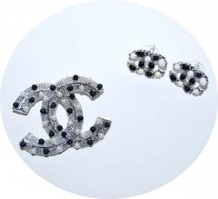 Комплект Шанель черно белый