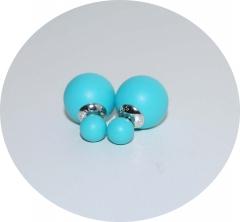 Серьги Dior голубые матовые 925