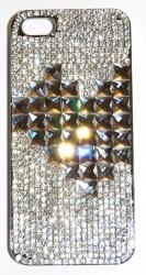 Чехол для iPhone 4S со стразами Сердце